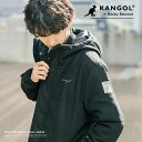 KANGOL カンゴール 別注 ダウンジャケット メンズ レディース アウター ウール メルトン ジャンバー ブルゾン 中綿 ボリュームネック フード 防寒 暖か カジュアル ユニセックス 9655
