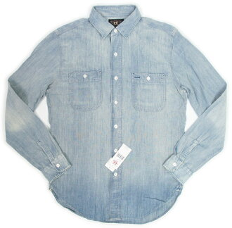 RRL (double RL) Selvedge Chambray Work Shirts double are cell bitch chambray shirt