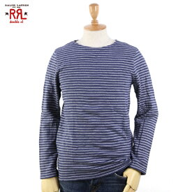 RRL(double RL) l/s Fleece Tee ダブルアールエル 長袖 裏起毛のボーダーTシャツ