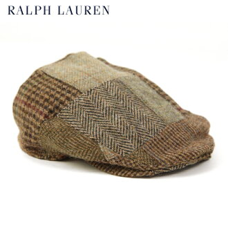 Polo by Ralph Lauren Patchwork Tweed Driving Cap US马球拉尔夫劳伦拼凑细工苏格兰呢的运转盖子
