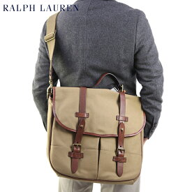 POLO Ralph Lauren Twill & Leather Game Bag US ポロ ラルフローレン ショルダーバッグ ブリーフケース