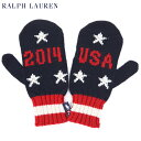 POLO by Ralph Lauren Men's TEAM USA Mitten Knit Glove US ポロ ラルフローレン MADE IN USA ニット手袋