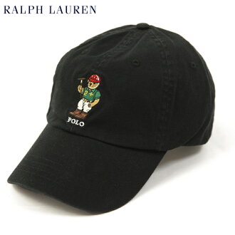 "Ralph Lauren ""POLO BEAR"" Baseball Cap US (BLACK) Polo Ralph Lauren bear embroidered Cap"