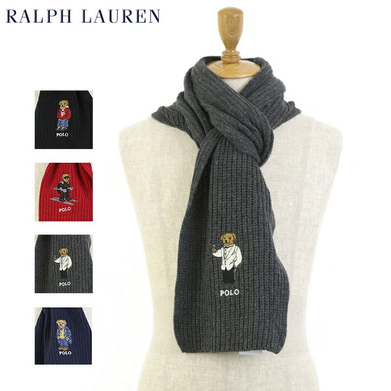 "POLO by Ralph Lauren ""POLO BEAR"" Scarf ラルフローレン ポロベアー刺繍 スカーフ マフラー"