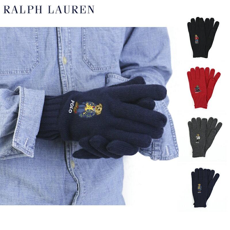 "POLO Ralph Lauren ""POLO BEAR"" Knit Glove US ポロ ラルフローレン ポロベアー刺繍のニット手袋"