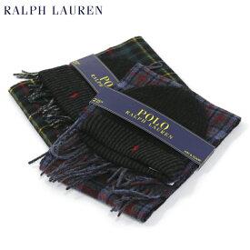 POLO by Ralph Lauren Hat & Scarf Set ラルフローレン ダブルフェイスのウール混紡 スカーフ マフラー メリノウール ニットキャップ セット