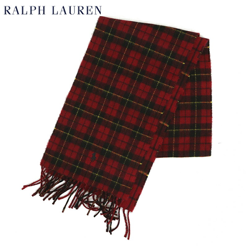 POLO by Ralph Lauren Double-Faced Scarf (RED TARTAN) ラルフローレン ダブルフェイスのウール混紡 スカーフ マフラー