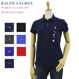 "(WOMEN) Polo by Ralph Lauren ""CLASSIC FIT"" Solid Color Mesh Polo Shirt USポロ ラルフローレン レディース 無地ポロシャツ 鹿の子 ワンポイント"