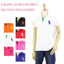 Ralph Lauren SPORT Lady's BIG PONY Solid Color Mesh Polo Shirts USラルフローレン レディース ...
