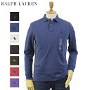 "Ralph Lauren Men's ""Medium Fit"" Cotton Jersey l/s Polo Shirt US ポロ ラルフローレン ミディアム..."