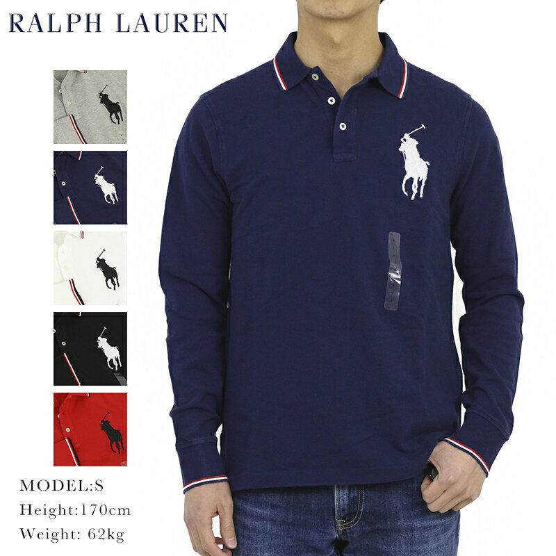 ポロ ラルフローレン コットン 鹿の子 ビッグポニー 長袖ポロシャツ ワンポイント POLO Ralph Lauren Men's Cotton Mesh l/s Polo Shirt US