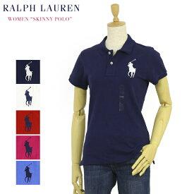 """ポロ ラルフローレン レディース ビッグポニー スキニーフィット 無地ポロシャツ POLO Ralph Lauren Lady's """"THE SKINNY POLO"""" BIG PONY Solid Color Mesh Polo Shirts US"""