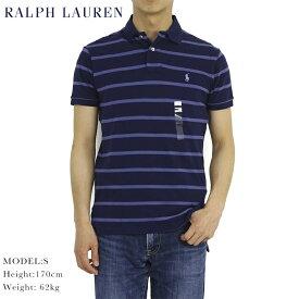ポロ ラルフローレン メンズ カスタムフィット 半袖 ボーダー ポロシャツ ポニー刺繍 POLO Ralph Lauren Men's Border Polo Shirts US