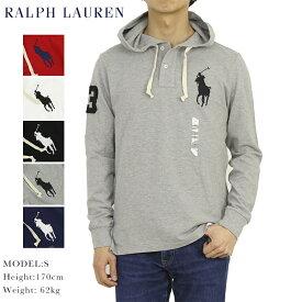 ポロ ラルフローレン コットン 鹿の子 フード付き 長袖ポロシャツ ビッグポニー刺繍 POLO Ralph Lauren Men's Hooded Cotton Mesh l/s Polo Shirt US