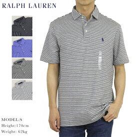 ポロ ラルフローレン クラシックフィット ボーダー柄 台襟 ポロシャツ ワイドカラー ワンポイント Ralph Lauren Men's Cotton Jersey Border Polo Shirt US