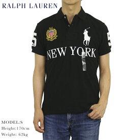 """ポロ ラルフローレン カスタムスリムフィット 鹿の子 ポロシャツ ラガーシャツ POLO Ralph Lauren Men's CUSTOM SLIM FIT Polo Shirt US """"NEW YORK"""""""