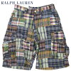 "Ralph Lauren Men's ""Gellar Fatigue"" Patchwork Shorts US polo Ralph Lauren patchwork cargo panties short pants shorts"