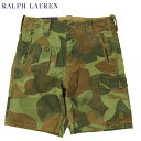 Ralph Lauren Men's Camo Print Canvas Cargo Shorts US ポロ ラルフローレン カーゴショーツ ショートパンツ 半ズボン