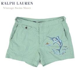 Ralph Lauren Men's Vintage Cotton/Nylon Swim Shorts US ポロ ラルフローレン ビンテージ コットン/ナイロン スイムショーツ (水着)