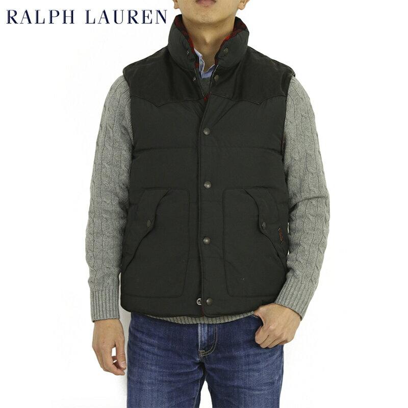 POLO by Ralph Lauren Men's Leather York Reversible Down Vest USポロ ラルフローレン リバーシブルダウンベスト SALE