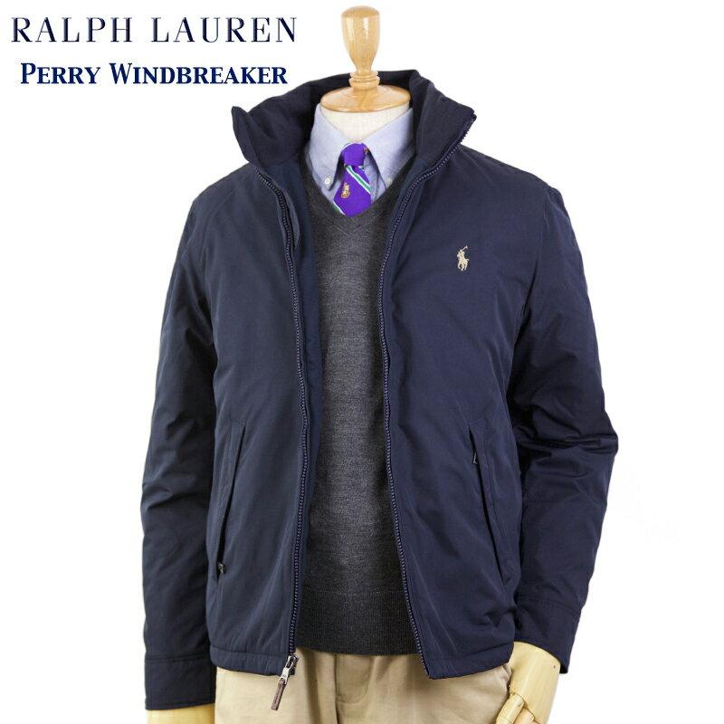 ポロ ラルフローレン フリースライニング ウインドブレーカー ジャケット POLO Ralph Lauren Men's Perry Windbreaker (NAVY) US ポロ 売れ筋 (UPS)