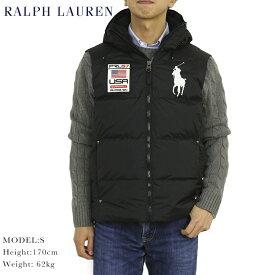 POLO by Ralph Lauren Men's Big Pony Down Vest USポロ ラルフローレン フード付 ダウンベスト