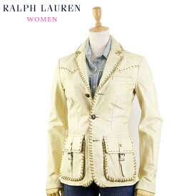 (WOMEN) Ralph Lauren Women's Leather Jacket 女性用 ラルフローレン レザージャケット
