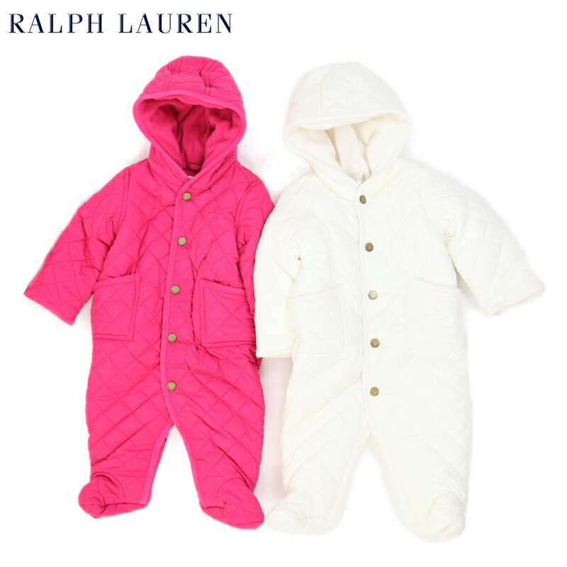 "(NB-9M) POLO by Ralph Lauren ""LAYETTE"" Quilted Barn Bunting USラルフローレン (新生児)ベイビーサイズの キルティング カバーオール (UPS)"