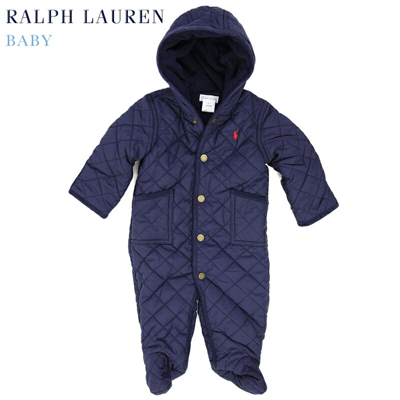 "(NB-9M) POLO by Ralph Lauren ""LAYETTE GIRL"" Quilted Barn Bunting USラルフローレン (新生児)ベイビーサイズの キルティング カバーオール (UPS)"