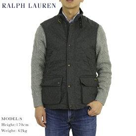 Ralph Lauren Men's WOOL Quilted Vest USラルフローレン メンズ ウールシェル キルティング ベスト