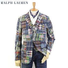 "POLO by Ralph Lauren Men's ""India Madras"" Patchwork Sport Coat USポロ ラルフローレン パッチワーク マドラスチェック ジャケット"