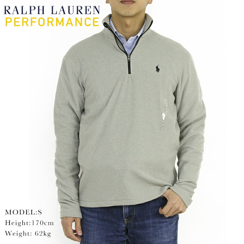 "Ralph Lauren Men's ""Performance"" Fleece Half-Zip PO USラルフローレン フリース ハーフジップ プルオーバージャケット"