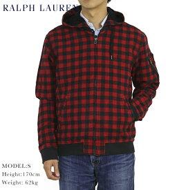ポロ ラルフローレン バッファローチェック MA-1タイプ フード ジャケット POLO Ralph Lauren Men's Flight Jacket US