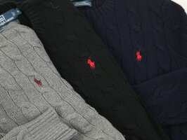 RalphLaurenMen'sCottonCableCrewSweaterUSポロラルフローレンコットンのクルーネックセーター