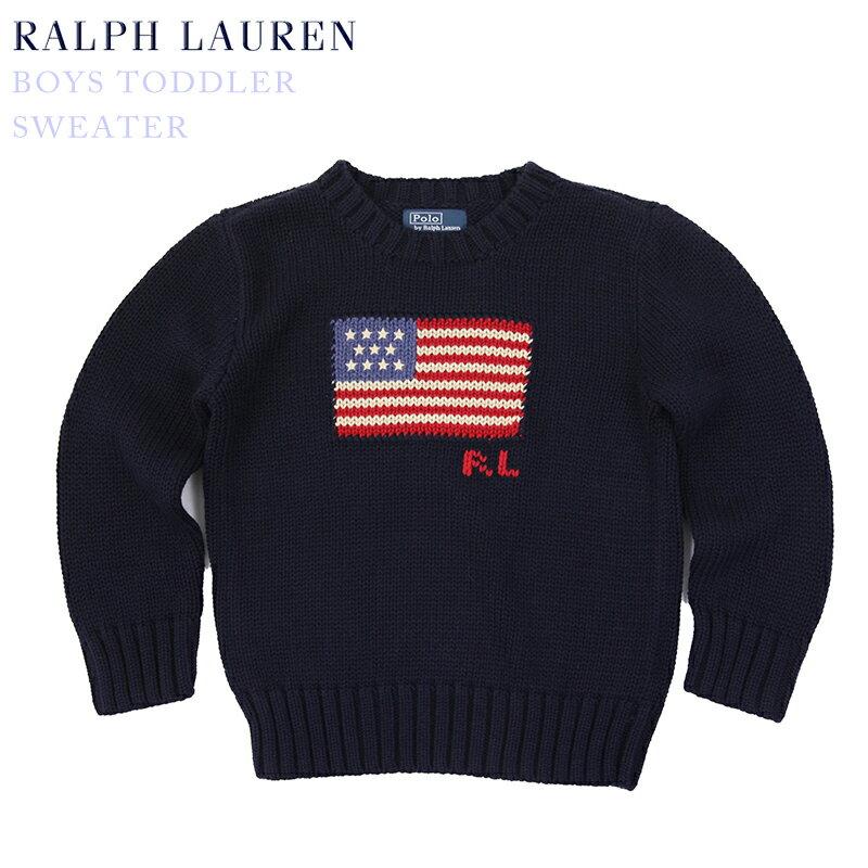 (2-7)Ralph Lauren Boy's(2-7) Crew-neck Flag Sweater ラルフローレン ボーイズ クルーネックセーター