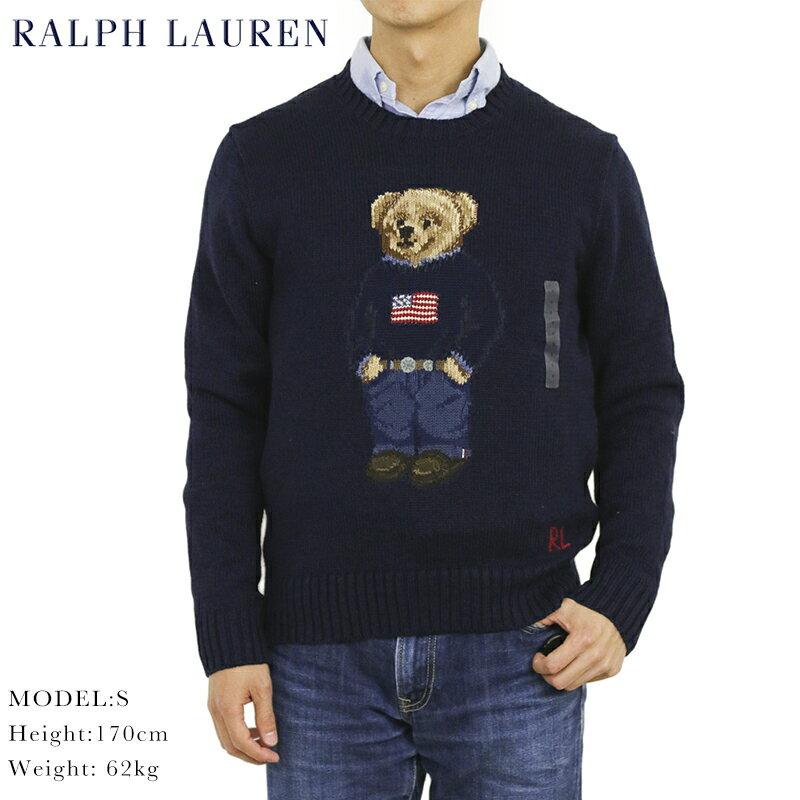 """Ralph Lauren Men's """"POLO BEAR"""" Cotton Linen Crew Sweater US ポロ ラルフローレン ポロベアー クルーネックセーター"""