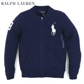 """ポロ ラルフローレン ボーイズ イッグポニー ニットジャケット POLO Ralph Lauren Boy's """"BIGPONY"""" Zip Cotton Sweater"""