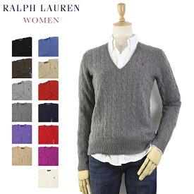 Ralph Lauren Women's Merino Cable Sweater USラルフローレン レディース メリノウール Vネック セーター