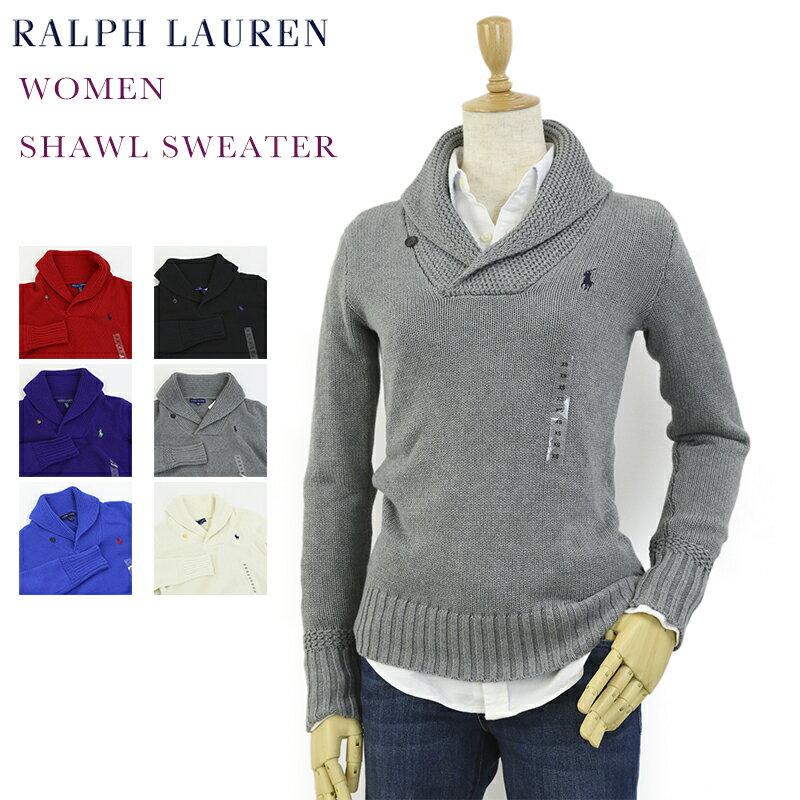 Ralph Lauren SPORT Women's Shawl Collar Sweater USラルフローレン レディース ショールカラー プルオーバーセーター
