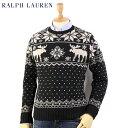 Ralph Lauren Men's Snowflake Crew Sweater US ポロ ラルフローレン 雪柄 ウール クルーネックセーター