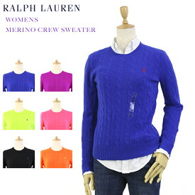 Ralph Lauren Women's Merino Cable Crew Sweater USラルフローレン レディース メリノウール クルーネック セーター