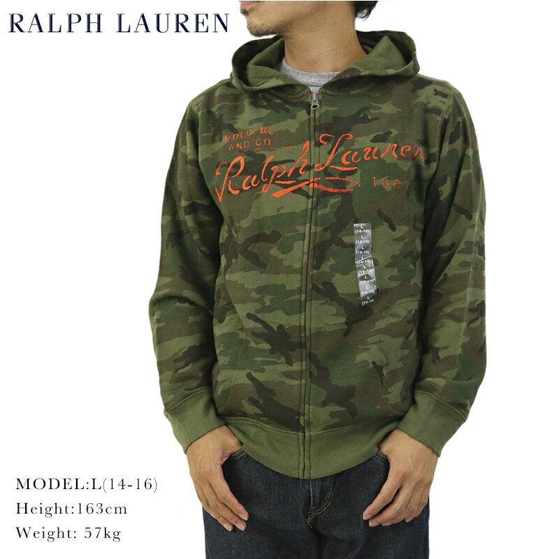 Ralph Lauren Boy's Camouflage Zip Parka USラルフローレン ボーイズ ジップアップ スウェットパーカー 迷彩プリント