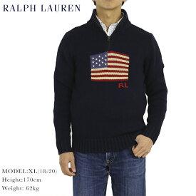 Ralph Lauren Boy's Flag 1/2 Zip Sweater ラルフローレン ボーイズ 国旗柄ニット ハーフジップセーター