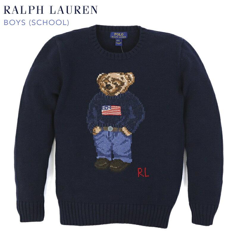 """Ralph Lauren Boy's """"POLO BEAR"""" Crew Sweater ラルフローレン ボーイズ ポロベアー クルーネック セーター"""