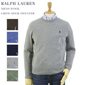 POLO Ralph Lauren Men's Italian-Yarn Wool Crew-Neck Sweater US ポロ ラルフローレン ウール100% クルーネック セーター