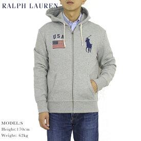 """ポロ ラルフローレン ジップアップスウェットパーカー アメリカ国旗 ビッグポニー フーディー POLO Ralph Lauren Men's """"Big Pony"""" USA-FLAG Hoodie US"""