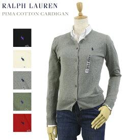 Ralph Lauren Women's Pima Cotton Cardigan USラルフローレン レディース ピーマコットン 丸首 カーディガン