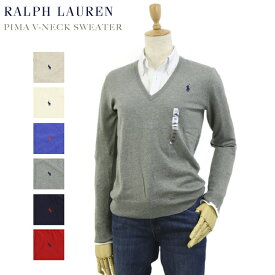 Ralph Lauren Women's Pima Cotton V-Neck Sweater USラルフローレン レディース ピーマコットン Vネック セーター