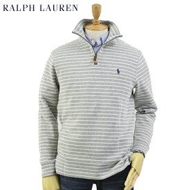 Ralph Lauren Men's French-Rib 1/2 Zip Pullover Sweater US ポロ ラルフローレン メンズ ハーフジップ プルオーバー ボーダー スウェット