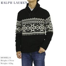 ポロ ラルフローレン 雪柄 コットン/カシミア ショールカラー セーター POLO Ralph Lauren Men's Snowflake Shawl Sweater US